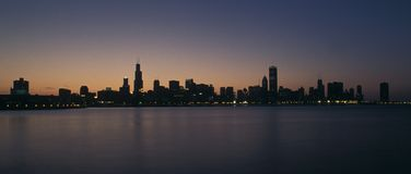 Chicago sunset Stock Photography
