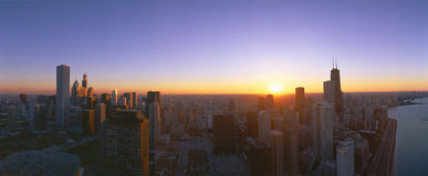 Chicago Sunset Stock Image