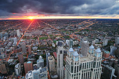 Chicago sunset Stock Images