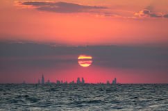Chicago Sunset Royalty Free Stock Images
