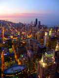 Chicago Sunset and Lake Michigan Royalty Free Stock Image