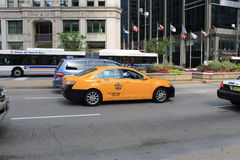Chicago Taxi Stock Images
