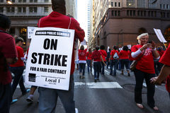 Chicago Teachers Strike 2012 Stock Image