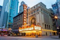Chicago teater Fotografering för Bildbyråer