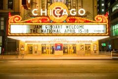 Chicago teater Arkivbilder
