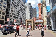 Chicago teater Arkivbild