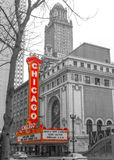 Chicago teater royaltyfri foto
