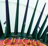 chicago tecken arkivfoto