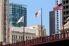 chicago teckentribune royaltyfri foto