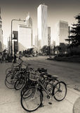 Chicago tegen dag Stock Fotografie