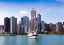 Chicago tegen dag Stock Foto's