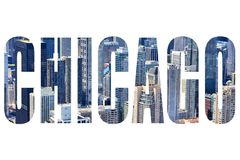 Chicago text sign Royalty Free Stock Photography