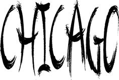 Chicago text sign illustration royalty free stock photography