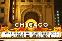 Chicago theater. Royalty Free Stock Photos