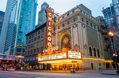 Chicago-Theater Stockbild