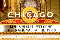 Chicago-Theater Lizenzfreie Stockbilder