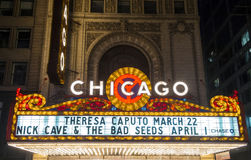 Chicago Theater stock image
