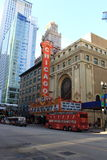 Chicago Theater and Tour Bus Royalty Free Stock Image