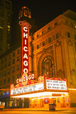 Chicago theather neon sign Royalty Free Stock Photo