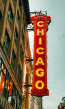 Chicago theather neon sign Royalty Free Stock Image