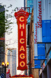 Chicago theather neon sign Stock Images