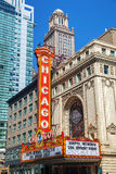 Chicago theather sign Stock Images