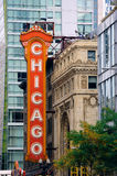 Chicago Theatre Stock Photo