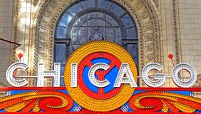 Chicago Theatre in Chicago, Illinois. Chicago, Illinois, USA - June 22, 2018: The landmark Chicago Theatre on State street. The historic theater dates from 1921 stock image