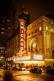Chicago Theatre At Night Stock Photography
