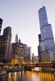 chicago torntrumf Arkivfoto