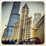 Chicago tourist bus tour Royalty Free Stock Photography
