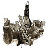Chicago trémulo ilustração stock