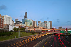 Chicago traffic. Royalty Free Stock Photo