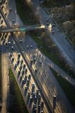 Chicago traffic. Aerial view of traffic on Dan Ryan Expressway in Chicago, Illinois Royalty Free Stock Image