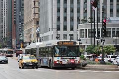 Chicago traffic Royalty Free Stock Images