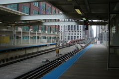 Chicago Train Platform Royalty Free Stock Images