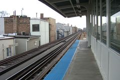 Chicago Train Platform Stock Photo