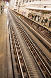 Chicago Train Tracks Royalty Free Stock Image