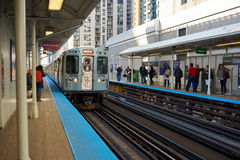Chicago Transit Authority. CHICAGO, IL - CIRCA MARCH, 2016: a CTA train at daytime. Chicago Transit Authority is the operator of mass transit in Chicago and some royalty free stock photos