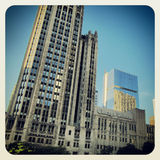 The Chicago Tribune. Building on Michigan Avenue Royalty Free Stock Photography