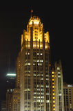 Chicago,Tribune Tower at night royalty free stock images