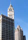 Chicago Tribune Tower and Wrigley building Stock Image