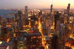 Chicago at twilight Stock Photos