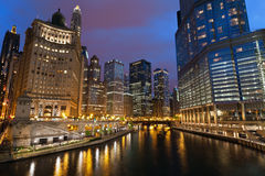 Chicago Twilight. Royalty Free Stock Images