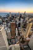 Chicago Twilight from the Heights Royalty Free Stock Image