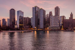 Chicago at twilight Royalty Free Stock Photography