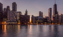 Chicago at twilight Royalty Free Stock Images