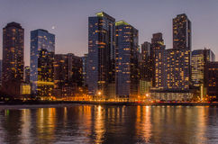 Chicago at twilight Royalty Free Stock Photos