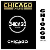 Chicago typography set, flat designs. EPS file available. see more images related stock illustration