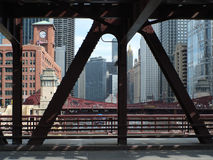 Chicago Under Bridge Stock Photography